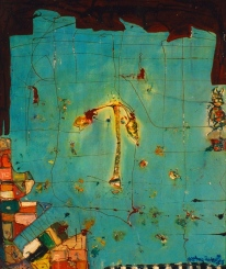 Paisaje aéreo, mixta/tabla, 1996