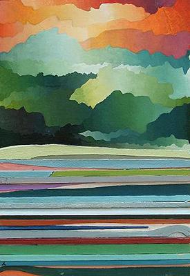 Paisaje Collage, mixta/tabla, 25 x 36, 2006