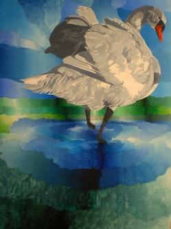 Cisne, óleo/lienzo