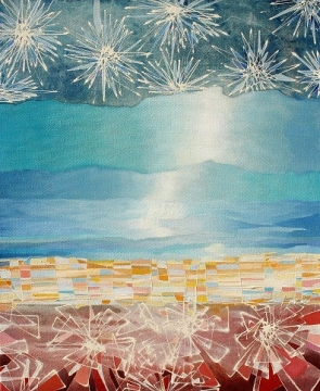 Paisaje abstracto 2, mixta/lienzo