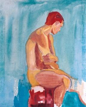 Estudio de academia, óleo/lienzo, 65 x 81, 19997