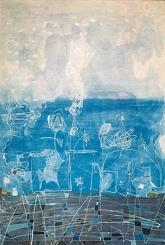Paisaje líquido, mixta/lienzo, 80 x 100, 1998