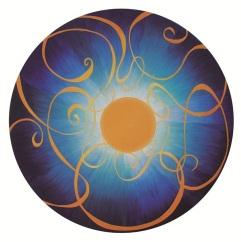 Sol, óleo/tabla, 75cm diámetro, 2013