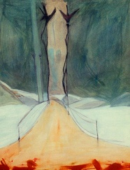 Paisaje nevado, óleo/lienzo, 2000