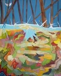 Serpiente, óleo/lienzo, 2001