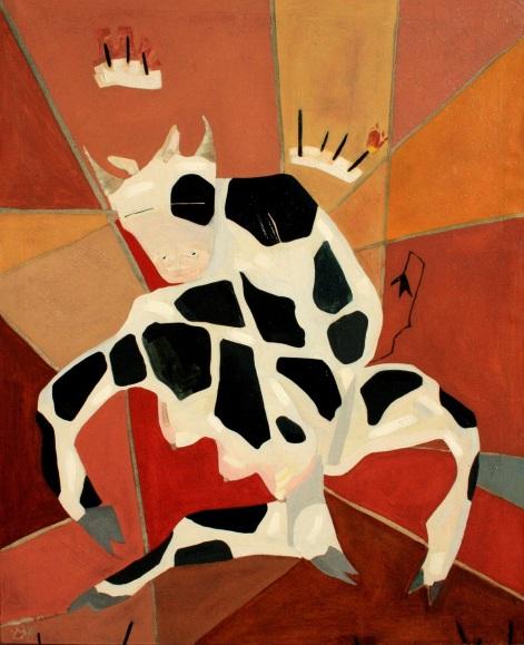 Vaca loca, óleo/lienzo, 65 x 81, 2001