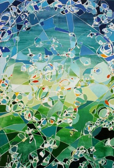 Abstracto Semillas, mixta/tabla, 48 x 70, 2012