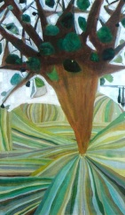 Árbol, óleo/lienzo, 2000