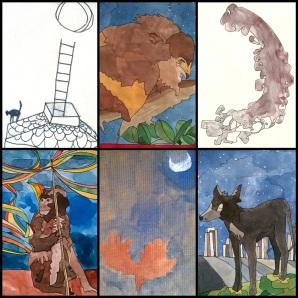 collage animales 6 negro 310kb
