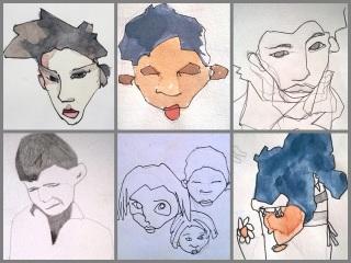 collgae retratos 3 gris