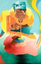 Haitiana, óleo/lienzo, 60 x 92, 2012