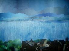 Lluvia en Lieja, óleo/lienzo, 130 x 89, 2006