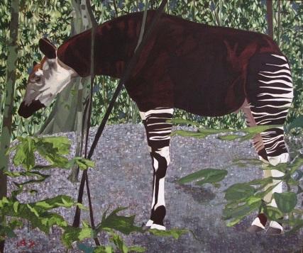 Okapi, óleo/lienzo, 2006