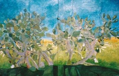 Paleras, óleo/tabla, 2002