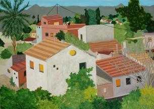 Casas en Murcia, óleo/tabla, 70 x 50, 2014