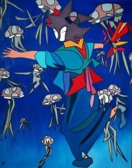 Danza de las medusas, 80x100, óleo/lienzo, 2017